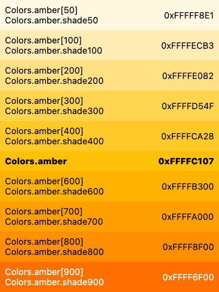 Colors class - material library - Dart API