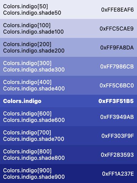 Colors Class Material Library Dart Api